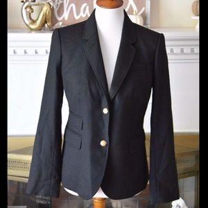 J. Crew Schoolboy Blazer Black Wool Jacket